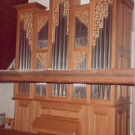 Buffet d'orgue en ormeau - Eglise d'Epalinges - P. Schmied - Lausanne